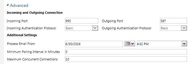 Standard Enquiry Server Profile setup 4