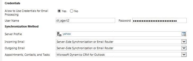 Standard Enquiry Server Profile setup 6